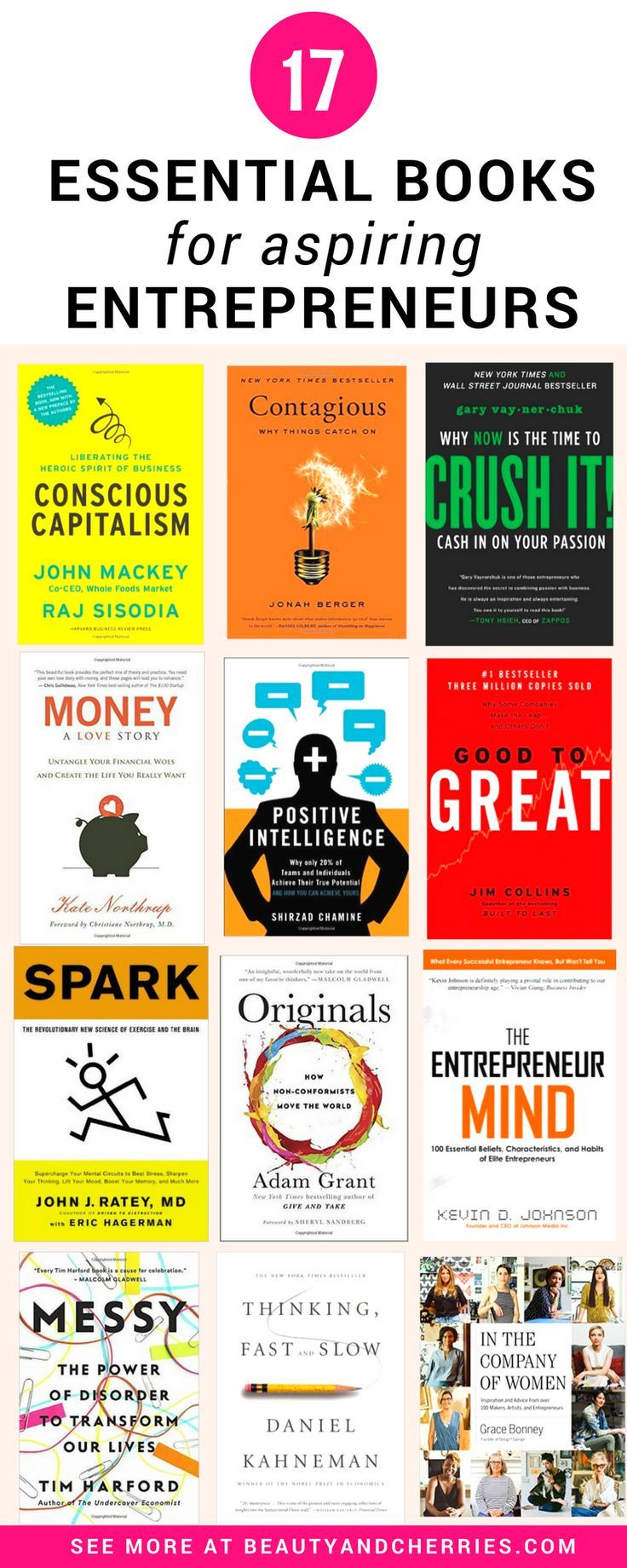 17 Essential Business Books For Aspiring Entrepreneurs