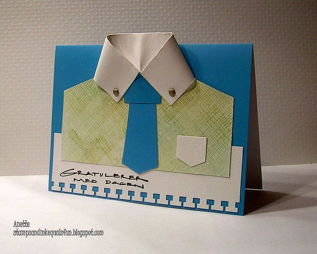 Father's day card making (by Anette Hjerpaasen)