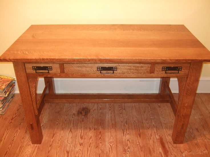 Free plans and tips on desks from the a desk is a table for Craftsman style desk plans