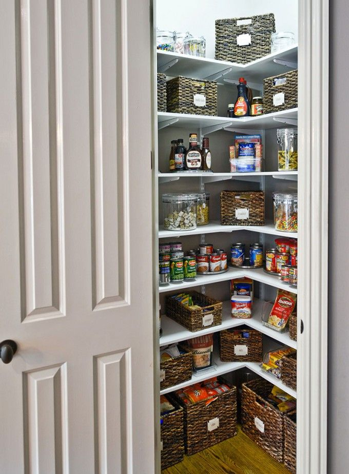 Clever Kitchen Pantry Ideas To Improve Your Kitchen : Small Corner Pantry  Closet Design With White