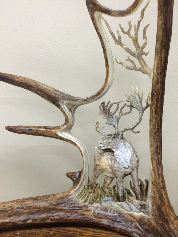 Best carved antler art images on pinterest