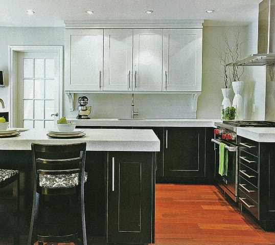 Two Tone Kitchen Cabinets Black