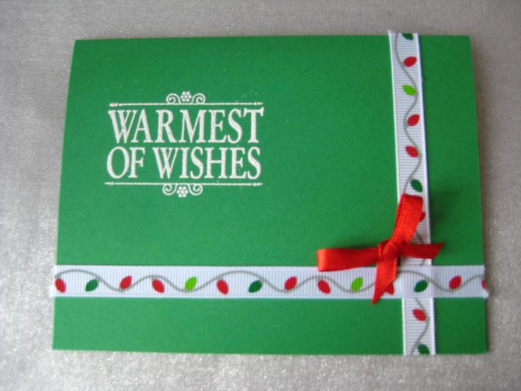 Stampin Up Warmest of Wishes and xmas lights ribbon