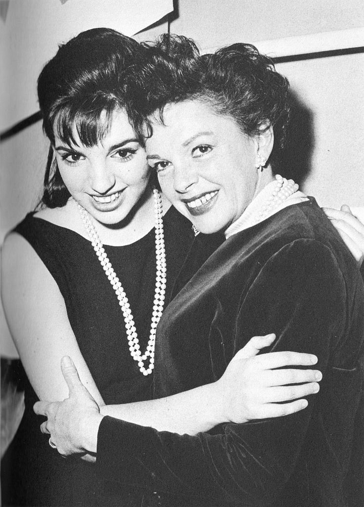 Judy Garland and daughter Liza Minnelli. Famous mother daughter duo