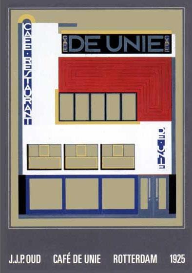 O.P.P. Oud - rotterdam    Wiederaufbau Cafe De Unie in Rotterdam 1986    1924-1925