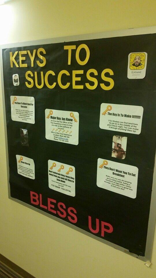 DJ KHALED keys to success RA bulletin board