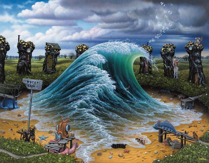 """""""Private Wave"""" by Jacek Yerka"""