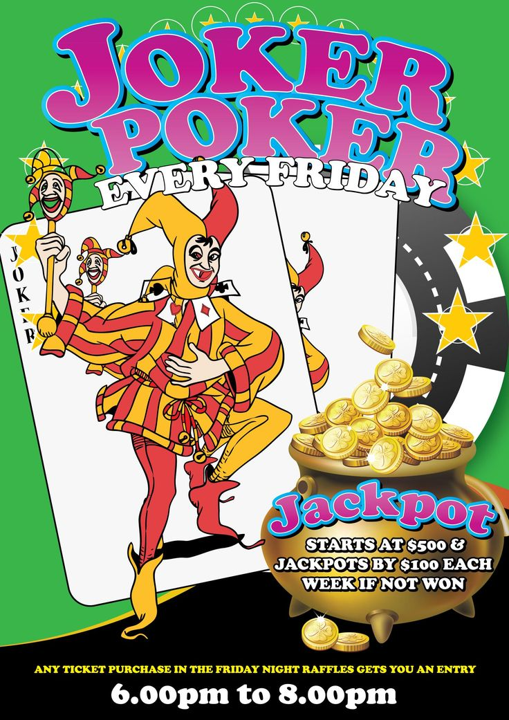 Joker Poker now stands at $3,400 returns Friday the 5th of February. Also we have 40 great prizes to give away in our Friday Night Raffles.Great food at the Bistro to be enjoyed by all.
