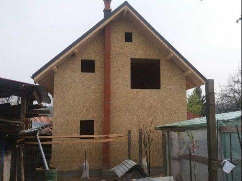 Constructii case din panouri de lemn, la rosu -  constructia casei de la...