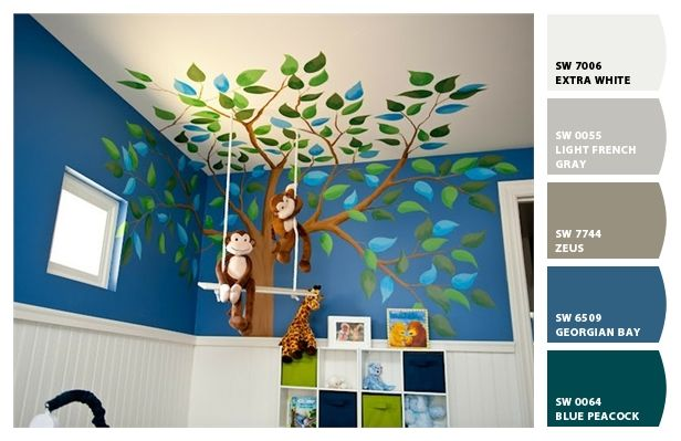Paint colors from Chip It! by Sherwin-Williams. Oringal image from designdazzle.blogspot.com. We did the chipping ourselves at Lullabeats.com. This particular room contains all of the official LullaBeats colors. So when we need to build an on site day care, this is our go to pin. #nursery