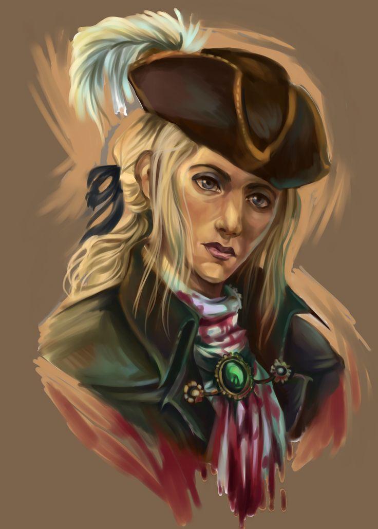 набросок на Леди Марию, героиню игры Bloodborne-. Пожалуй из всех персонажей оттуда она мне нравится больше всего,х.