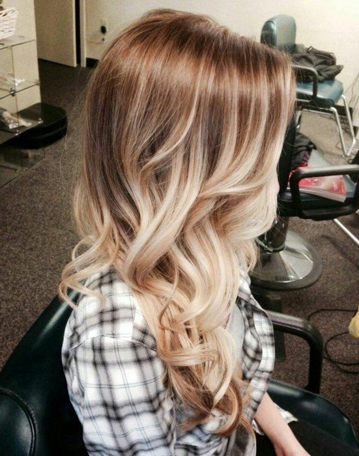 balayage blond polaire sur cheveux chatain. Black Bedroom Furniture Sets. Home Design Ideas