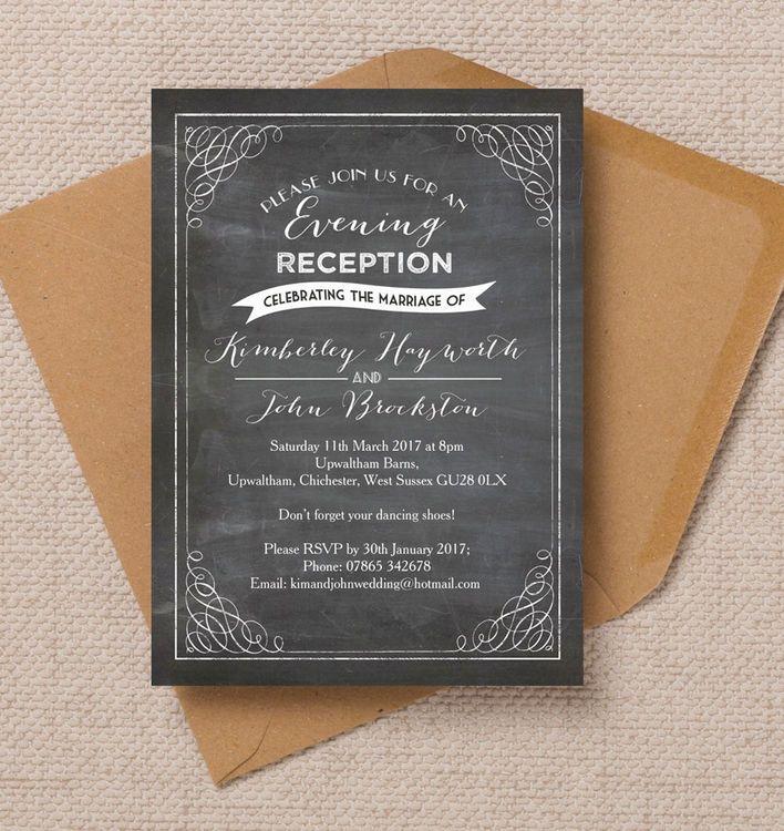 41 best Beautiful Evening Wedding Reception Invitations images on ...
