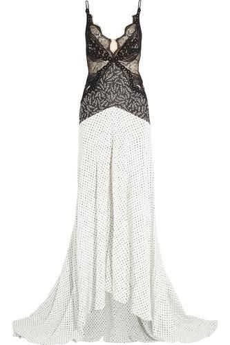 Green Carpet Challenge: guipure lace and printed silk gown #dress #blacktie #women #covetme #stellamccartney
