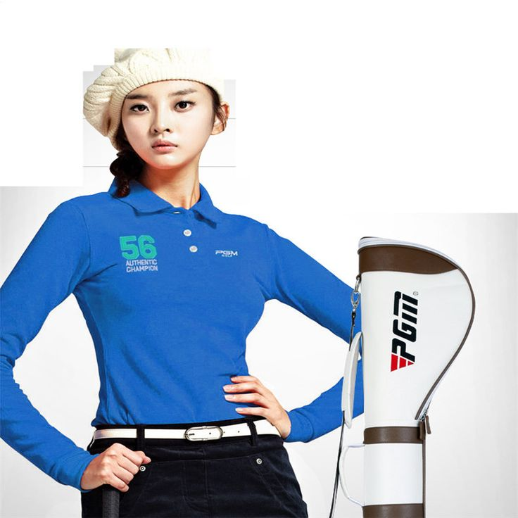 Mulheres Roupas De Golfe Pgm Golf Clothes Korean Long-sleeved T-shirt Ms. Warm Clothing New Trend Style Sports Uniforms