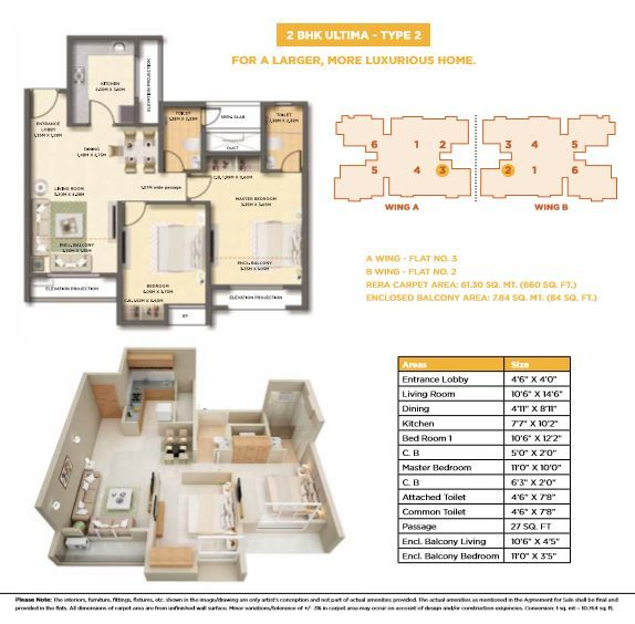 Dosti West County Dosti Cedar Floor Plan Dosti Cedar 2 Bhk Ultima Type 2 Floor Plan Floor Plans Luxury Homes Thane