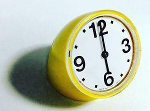 Orologio Tavolo Vintage CRONOTIME RITZ ITALORA P. MANZU' 1968 Giallo Funzionante | eBay
