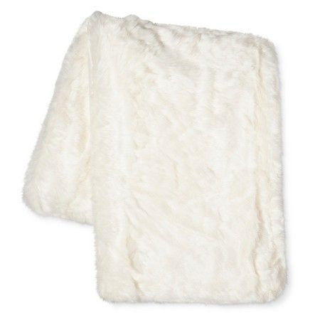 """Cream Faux Fur Throw Blanket (50""""x60"""") Threshold™ : Target... Autumn would like either the cream or brown."""