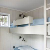 Oppbevaring i sengehesten