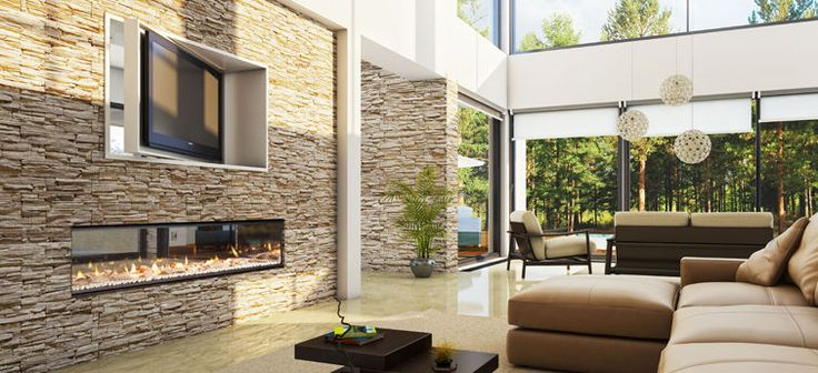 Gas fireplace / contemporary / closed hearth / free-standing DX1500 Escea Ltd