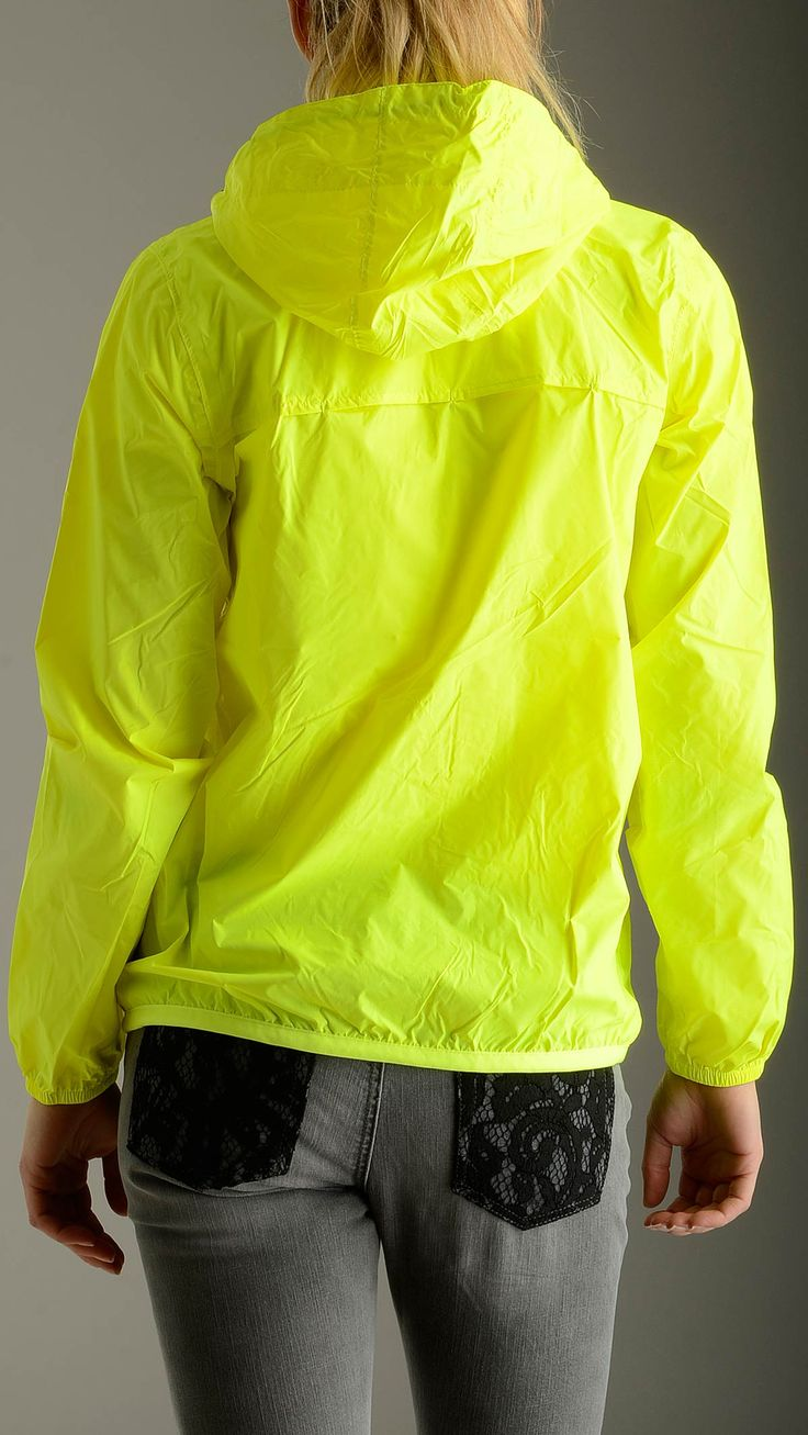 K-way - Yellow Fluo Le Vrai Claudette - k005if0 - Save money at Mood54