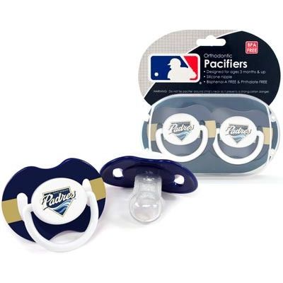 San Diego Padres MLB Baby Infant Pacifier 2 Pack