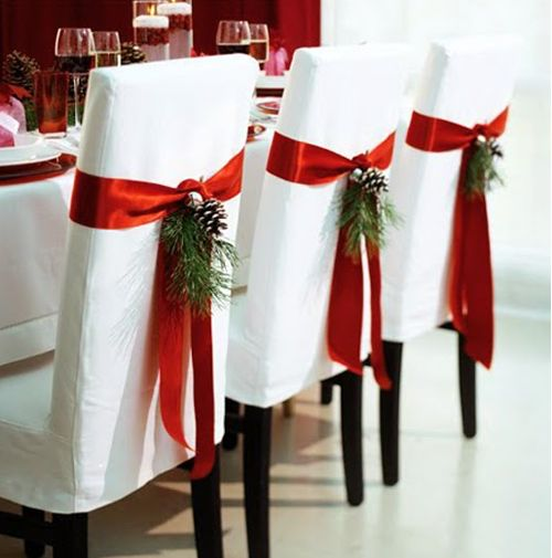 Visit simplyseductive.blogspot.comChristmas Parties, Dining Room, Chairs Decor, Christmas Wedding, Christmas Dinner, Christmas Decor, Christmas Table, Chairs Covers, Christmas Chairs
