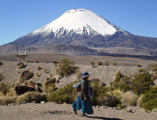 Volcán Parinacota, Chile by Francisca Diena, via Flickr