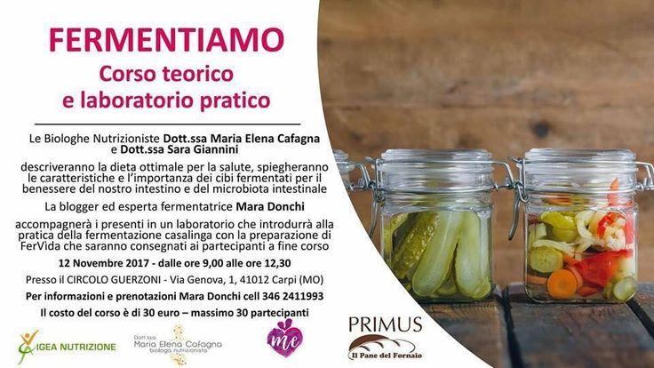 🍇🍐🍉🍍🍓🍉🍇🍓🍇🍍🍆🥒🥝 Un interessante corso sui Fermentati in particolare sui FerVida . Si svolgerà a Carpi il prossimo 12 Novembre . Info sul volantino 📄