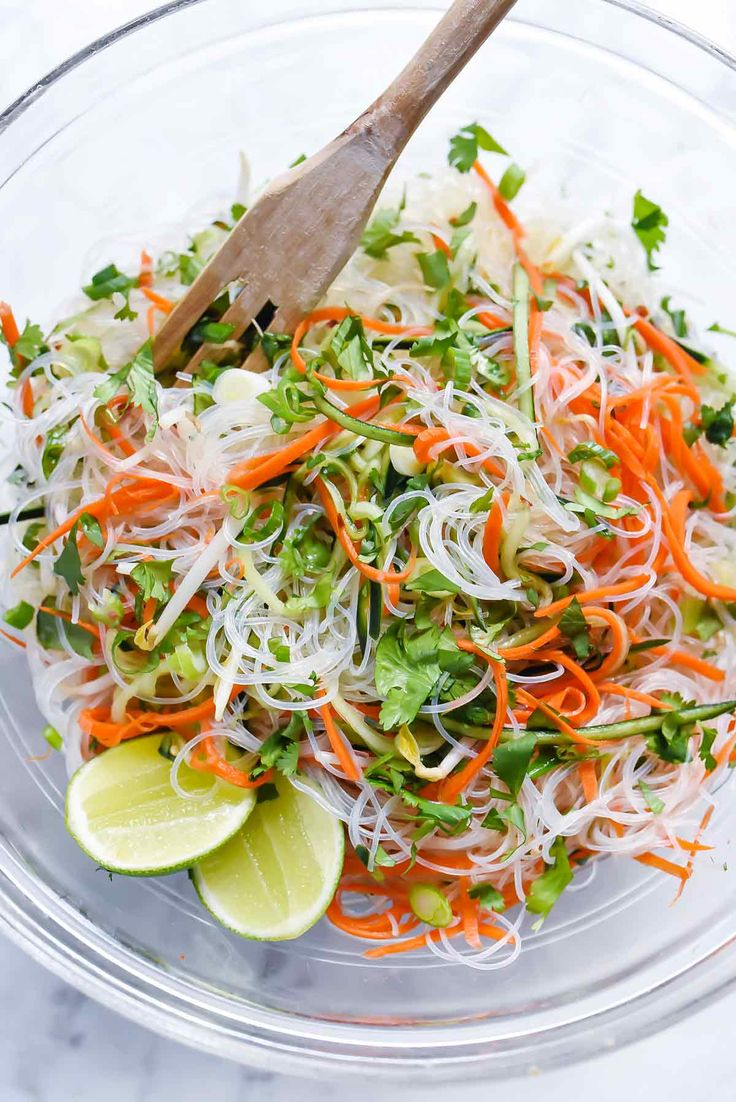 This light and fresh Asian salad filled with cucumber, carrot and bean sprouts is a tangy side dish for grilled meats, poultry, or eaten as a veggie main.