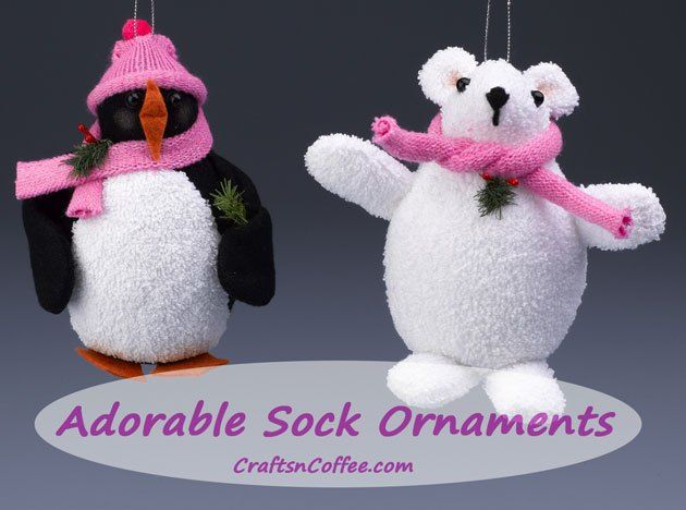 You make these cuties from socks & gloves. Too cute. CraftsnCoffee.com