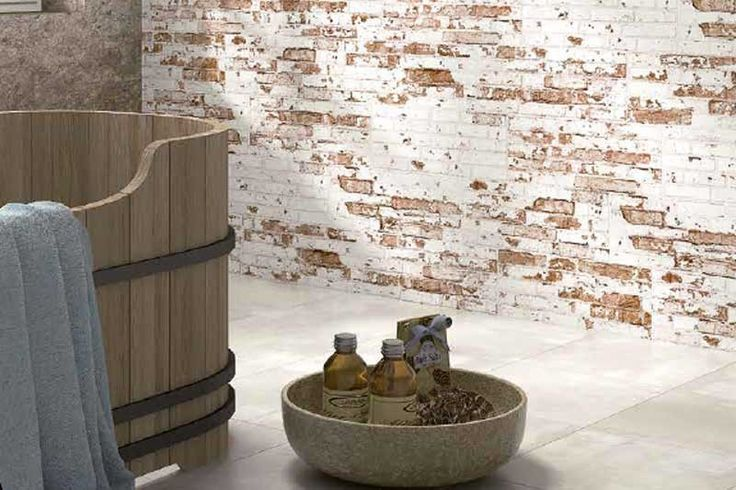 Rustic Brick Effect Wall Tiles 20x50cm Traditional