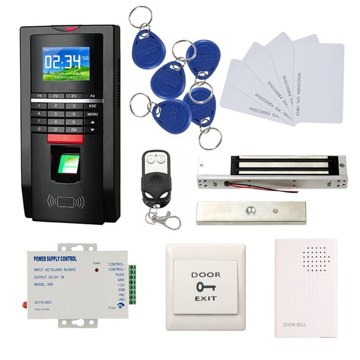 Bio fingerprint reader and rfid card door access control
