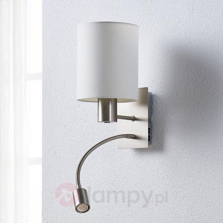 Atrakcyjna lampa ścienna Camilo z lampką do czyt. 9620924