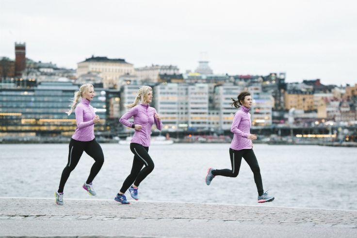 Running in Stockholm, Sweden.