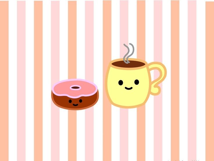 Donut and coffee wallpaper cute stuff pinterest - Cute coffee wallpaper ...
