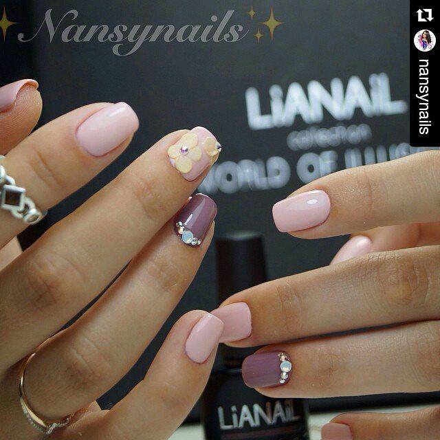 Гель-лак для ногтей - Ароматное какао - серо-коричневый   Купить в интернет-магазине LIANAIL - все для наращивания ногтей