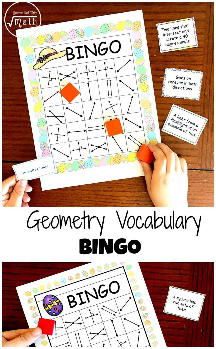 Get a FREE Geometry Bingo to Work on Lines, Rays, Parallel Lines Etc