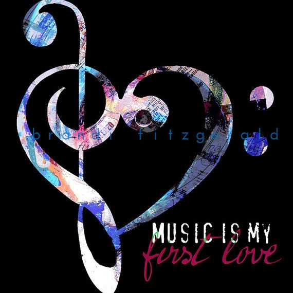 Music is my First Love  10 x 10 Music Bass by BrandiFitzgerald, $25.00