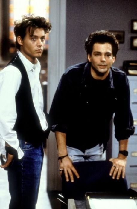 Johnny Depp & Richard Grieco Dear Lord it didnt get any hotter than this