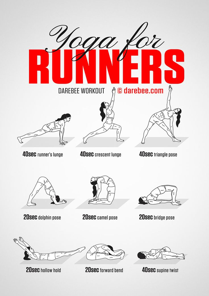 Yoga for Runners by DAREBEE #darebee #workout #yoga #runner #running