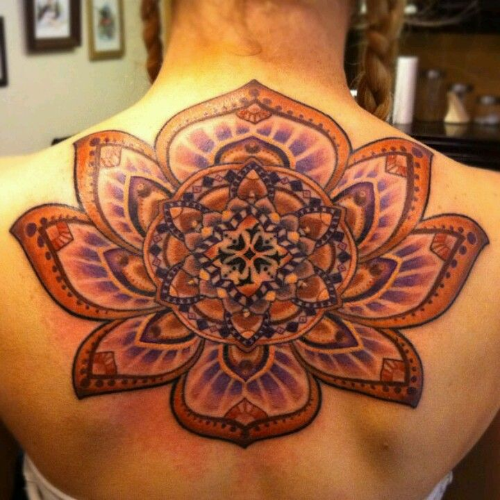 Awesome Lotus Flower / Mandala Tattoo by Greu of Integrity Alliance Tattoo, Asheville, SC