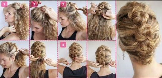 Lindo estilo de cabelo feminino com moicano ideal para festas
