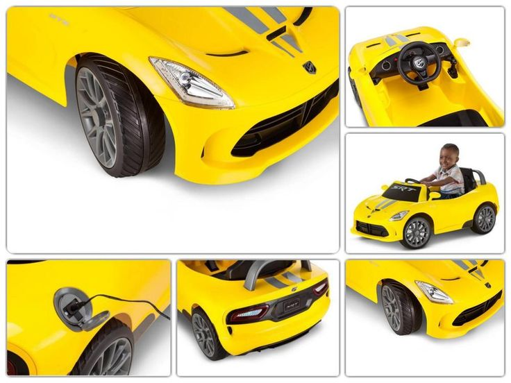 Ride On Kids Car Dodge Viper 6V Battery Power Toy Electric Racing 3 to 7 Years