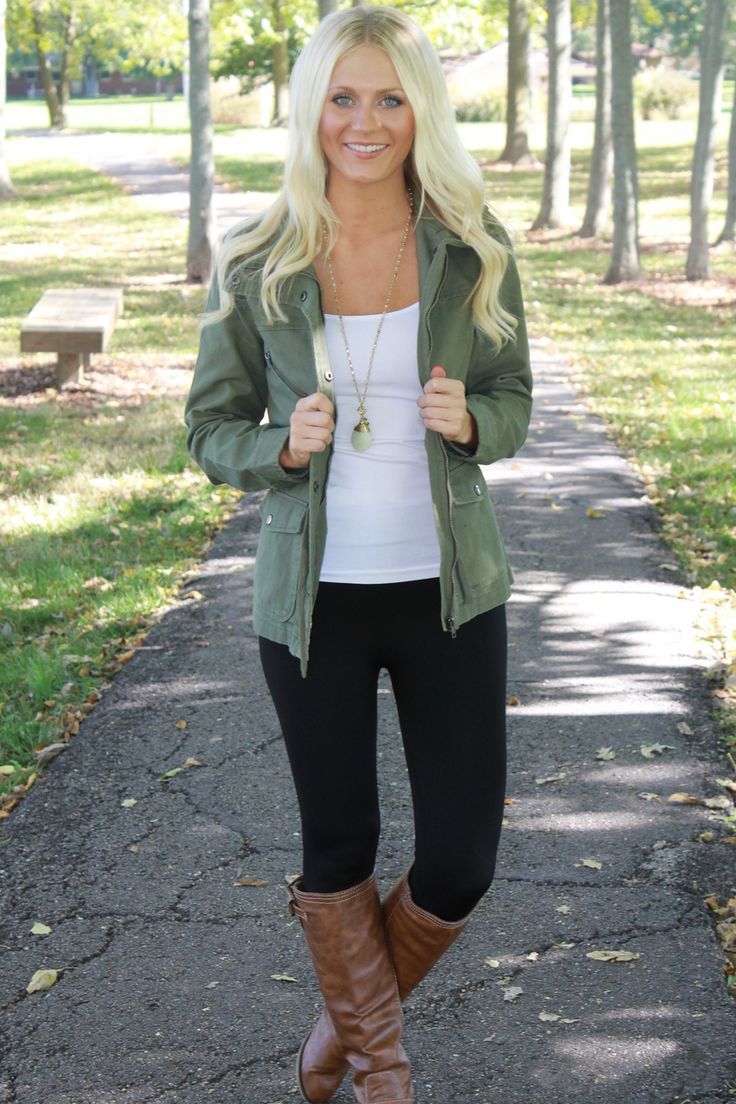 Olive green jacket outfit ideas