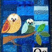 Owl Applique Wall Hanging Pattern - via @Craftsy