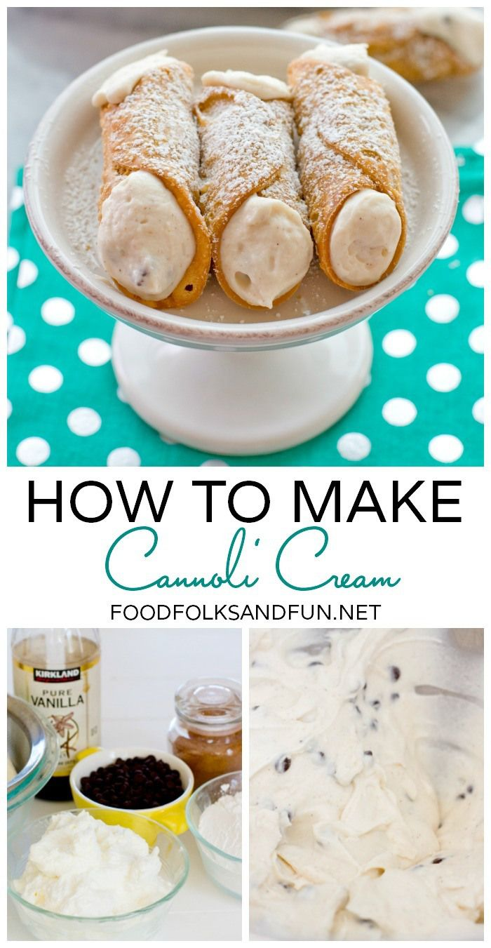 How to Make Cannoli Cream - Cannoli is the perfect dessert anytime of the year!