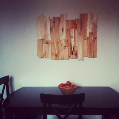 Homemade Wall Art Made Of Cedar Shingles For 7 00