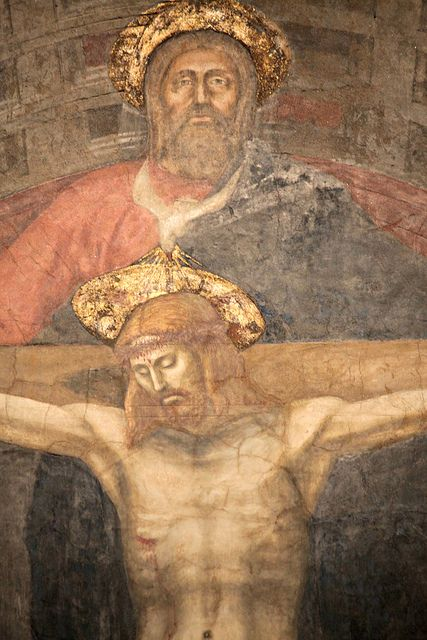 Masaccio - Trinità, dettaglio - affresco - 1425-1428 - Basilica di Santa Maria Novella - Firenze