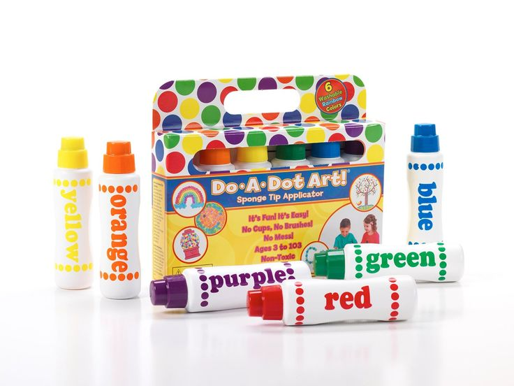 AmazonSmile: Do A Dot Art! Markers 6-Pack Rainbow Washable Paint Markers, The Original Dot Marker: Toys & Games